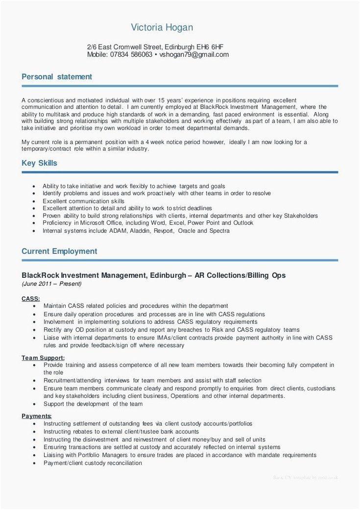 Account manager job description for resume lovely bank