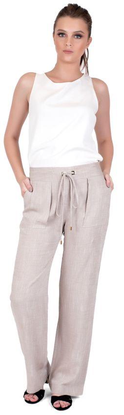 Calça Pantalona Caqui - 36