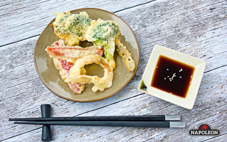 Vegetable Tempura On The Grill With Fresh Dipping Sauce