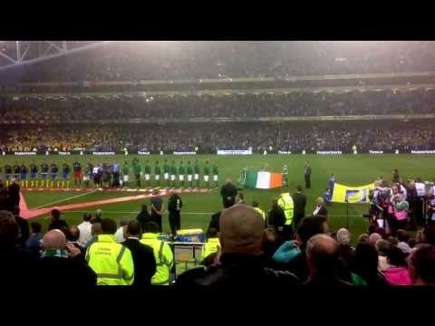 Model Nadia Forde butchering Irish National Anthem before World Cup qualifier with Sweden 06/09/13 - http://maxblog.com/10156/model-nadia-forde-butchering-irish-national-anthem-before-world-cup-qualifier-with-sweden-060913/