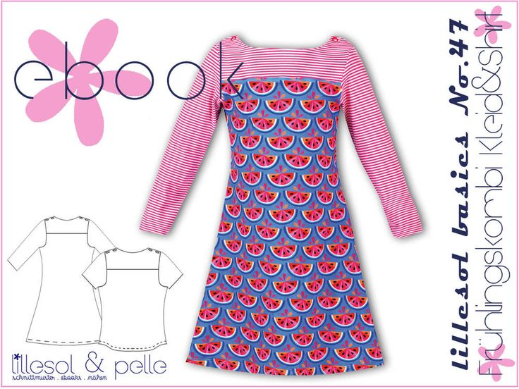Ebook / Schnittmuster lillesol basics No.47 Frühlingskombi Kleid & Shirt