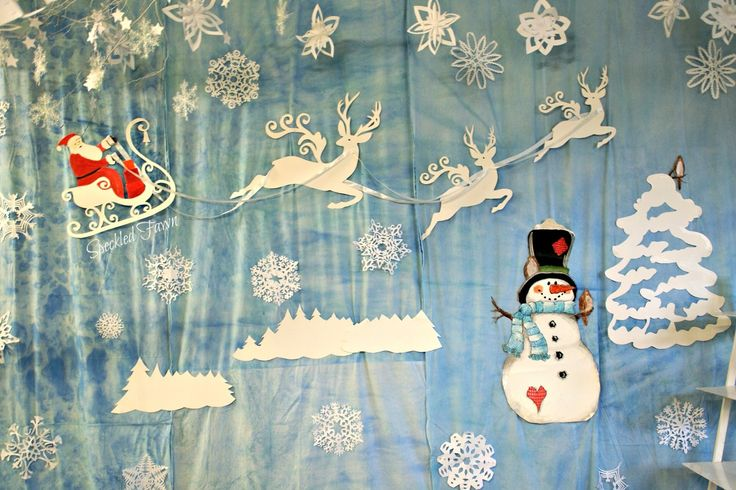Świąteczne dekoracje szkolne 2015 :)) czyli biało wszędzie! | Speckled Fawn