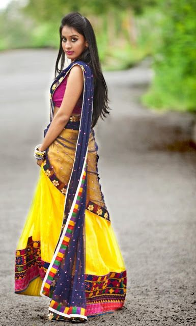 Indian Jewellery and Clothing: Beautiful and unique designs of lehngas from Bhargavi Kunam