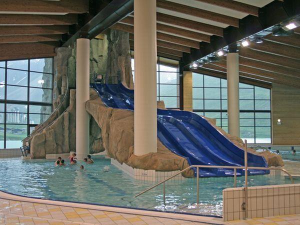 cool pool with slides water slides pinterest pools. Black Bedroom Furniture Sets. Home Design Ideas