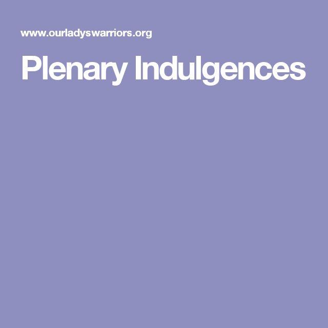Plenary Indulgences