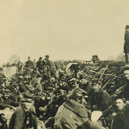 Union Soldiers Set for Action at the Rappahannock River