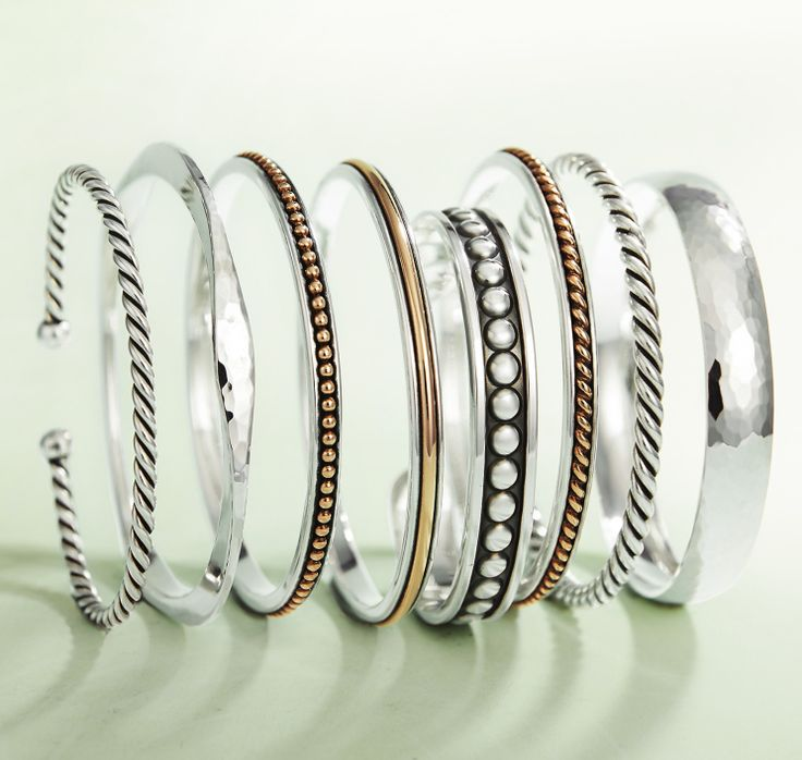 James Avery bangle bracelets.