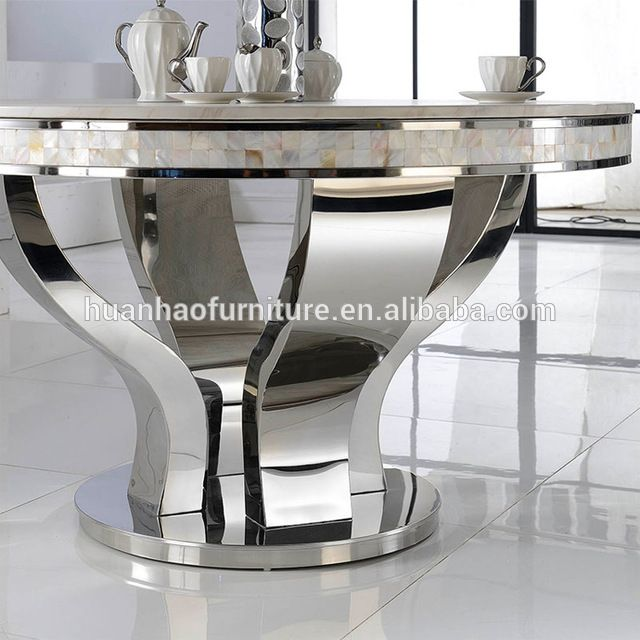 Source 2017 European Style Marble Round Dining Table With Rotating