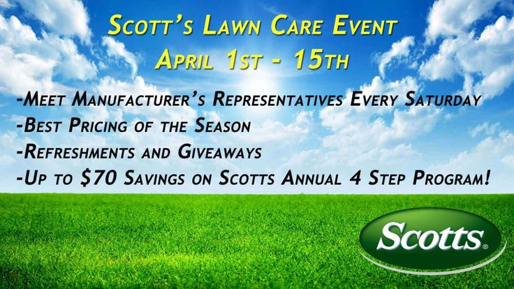 Join us this Saturday for our Scott's Lawn Care Event at Hingham Lumber.