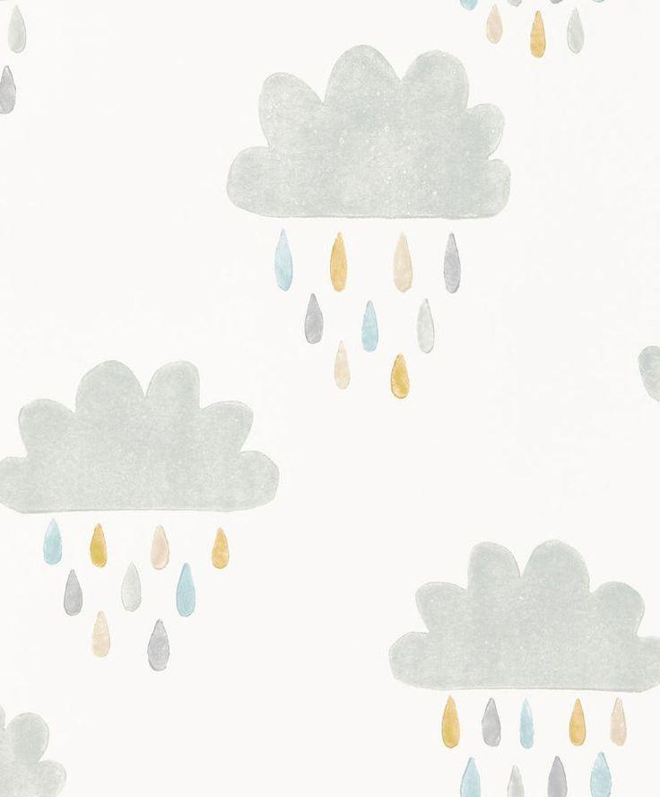 Lluvias de Abril color gris   telas & papel