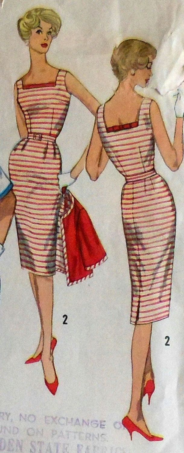 Vintage 60's Sleeveless Dress w/ Jacket Sewing Pattern