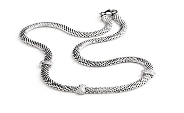 White Classic Necklace or Bracelet from the Bellissima Collection  http://www.sterns.co.za