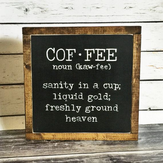 Coffee Sign Coffee Definition Sign Rustic by DriftwoodStudio2015