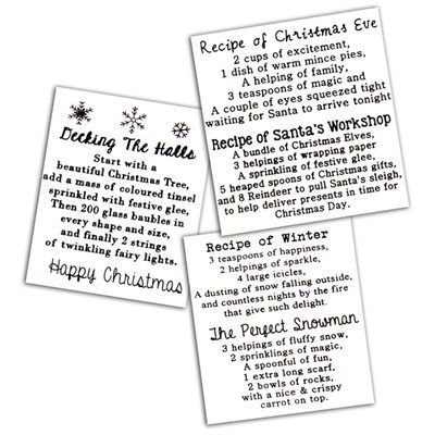 Buy Dreamees Christmas Recipe Bundle - 3 Square Stamp Sets from CreateAndCraft.tv