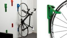 End Cycloc rack para bicicletas de pared. #bicis #hogar #decoracion #almacenamiento http://buenespacio.com/endo-cycloc-rack-para-bicicletas-de-pared.html