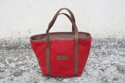 Borsa con manici da donna Mini Tote Bag in Panno Casentino