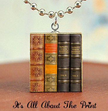 Scrabble Game Tile Jewelry -  Vintage Library Books - Scrabble Pendant Charm -Buy 2 Get 1 Free