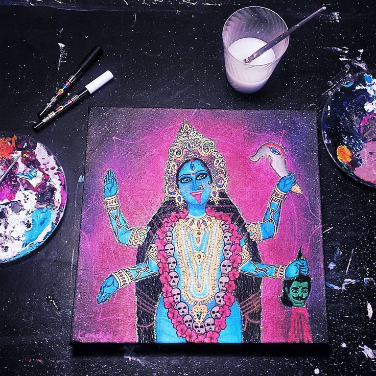 Kamakshi Dasi - My new painting of Goddess Kali.  She is also activated with an extremely powerful Kali Mantra.