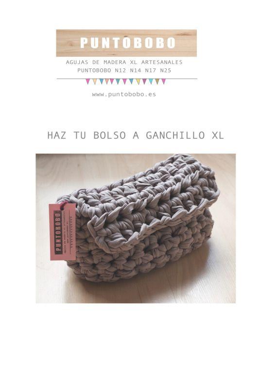Tutorial: Bolso a ganchillo XL, Crochet, Bolsos