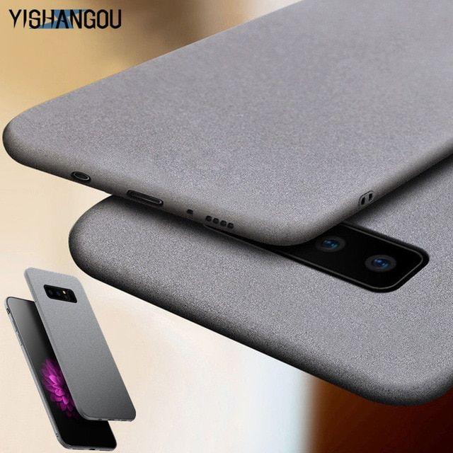 Yishangou Luxury Sandstone Matte Soft Phone Case For Samsung Galaxy S10 Lite S9 Plus Note9 A7 A9 2018 A6 A6s A9s Samsung Pattern Phone Case Android Phone Cases