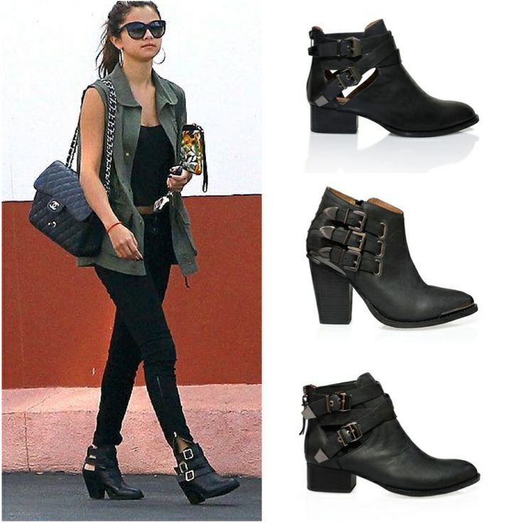 Selena Gomez in her Jeffery Campbell