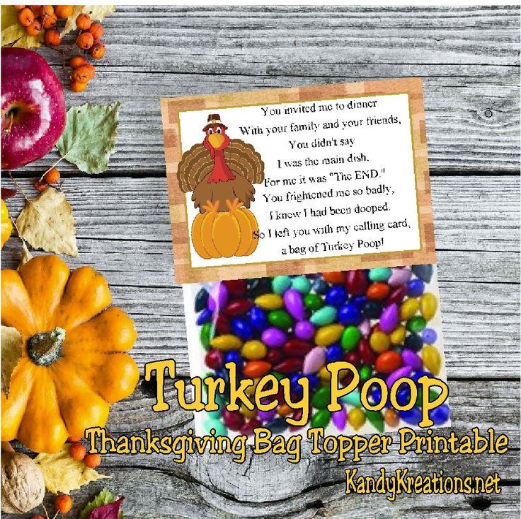 Turkey Poop Poem Printable wwwpicswe