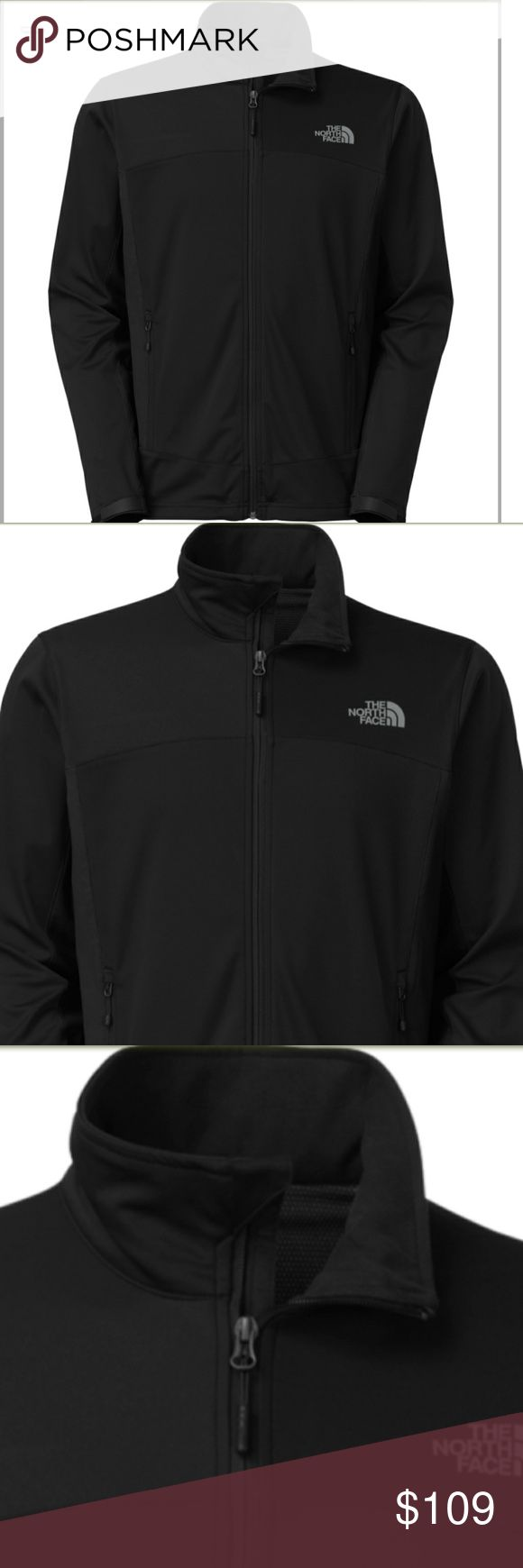 The North Face men's large soft shell jacket Very nice, NWT never worn. Retail $149 Color is TNF Black High performance soft shell  * GORE WINDSTOPPER windproof fabric construction blocks gusts * Strategically placed highly wind-resistant stretch panels for mobility * Wind-permeability rating is less than 20 CFM to seal in warmth * Durable water-repellent finish sheds moisture with ease The North Face Jackets & Coats Performance Jackets