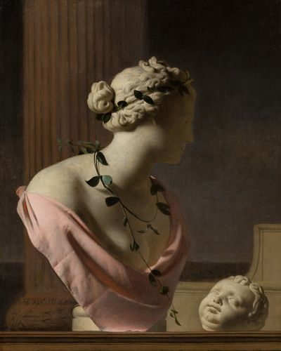 Trompe l'Oeil with a Bust of Venus | 1665 | Mauritshuis | Public Domain Marked