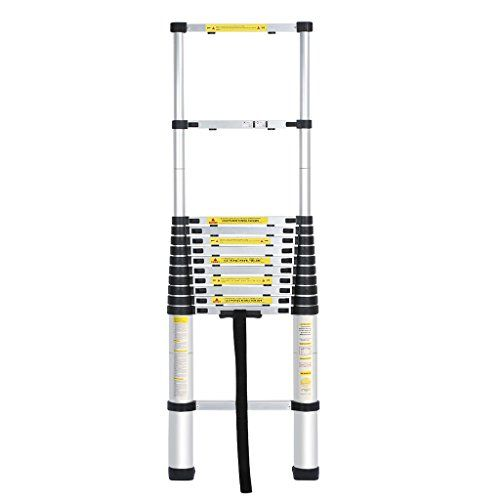Finether 3.8M Portable Telescopic Extendable Ladder for Home Loft Office