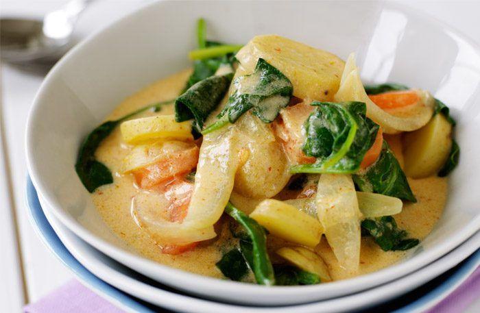 Thaigryta med currypasta – härligt kryddig gryta