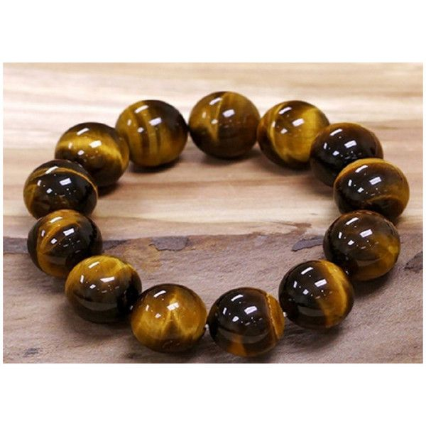 Hair Faux You Tiger Eye Natural Powerful Healing Stone Stretch... ($15) ❤ liked on Polyvore featuring jewelry, jewelry & watches, yellow tiger eye, stone jewelry, tiger eye jewelry, yellow jewelry, stretch jewelry and artificial jewellery