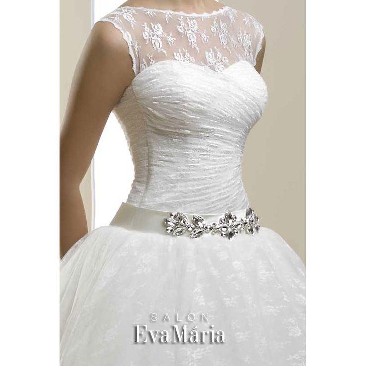 Biele svadobné šaty Kelly