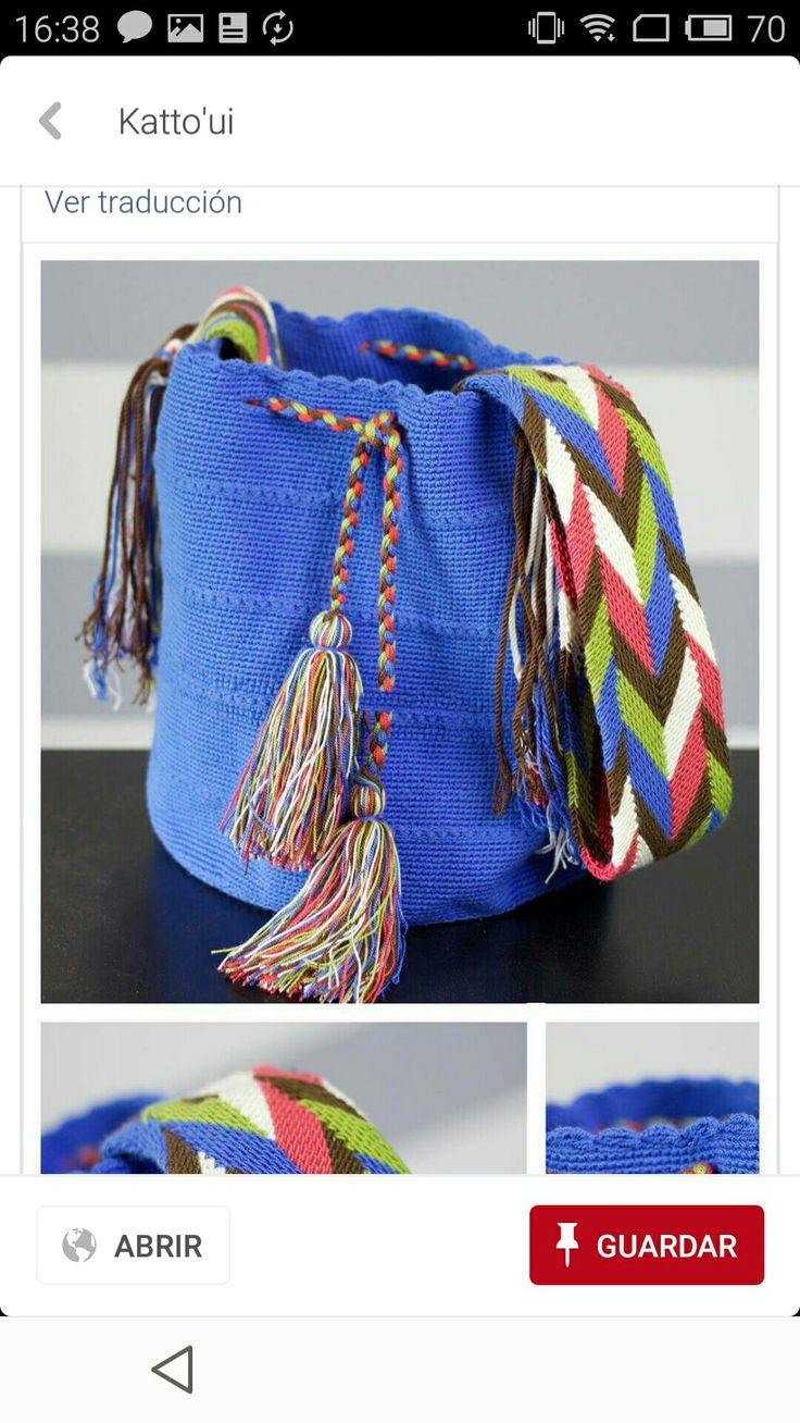 Wayuu bag blue