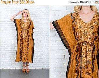 Sari de India L bordado fantasía reciclado vestido túnica