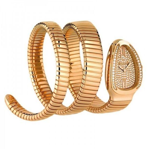 Bulgari Serpenti Tubogas spp35d2gdg.2t 18K Rose Gold Watch