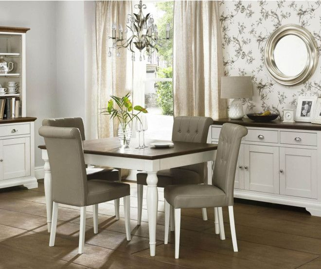 High Quality Bentley Designs Dining Table With Leather Chairs At Furniture Direct UK