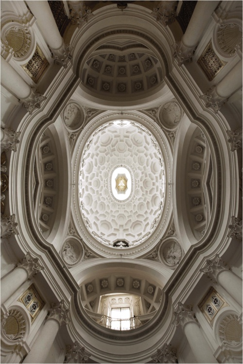 Ceiling church of saint charles at the four fountains for Baroque architecture elements