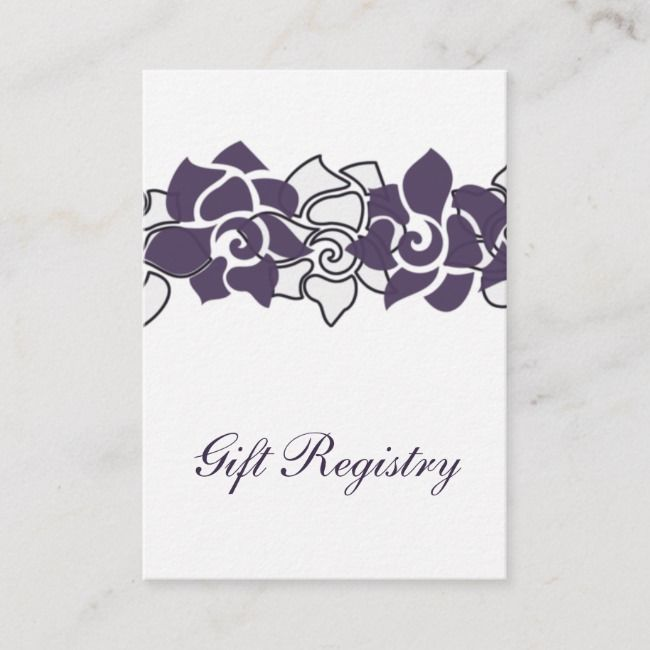 Create Your Own Enclosure Card Zazzle Com Registry Cards Purple Gift Gift Registry