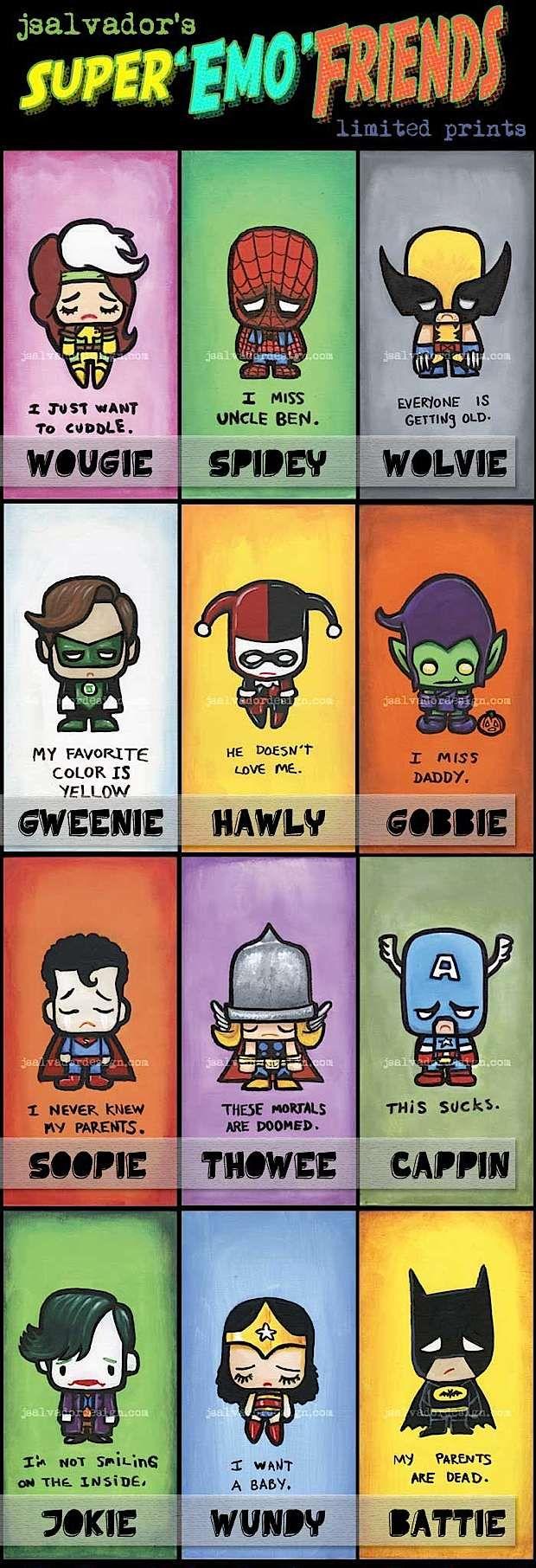Super Emo Friends - so cute, so funny, so sad