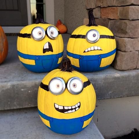 No carve minion pumpkins