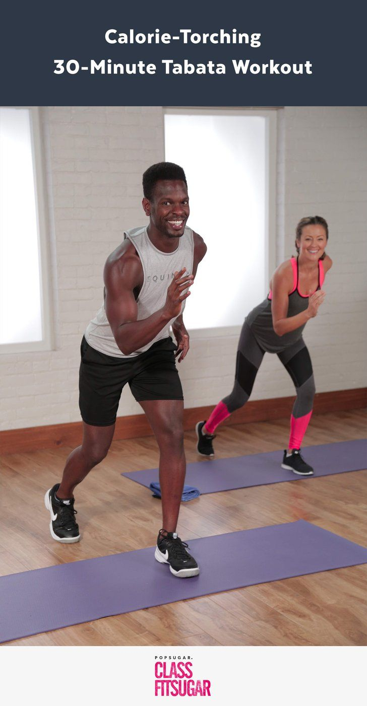Tabata is a form of HIIT (High Intensity Interval Training) that alternates between 20 seconds of intense bursts of work and 10 seconds of rest in four-minute rounds. It burns serious calories. Try this Tabata workout!