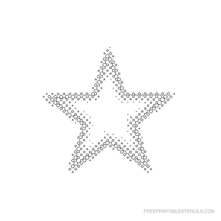 The  Best Star Stencil Ideas On   Star Template Star