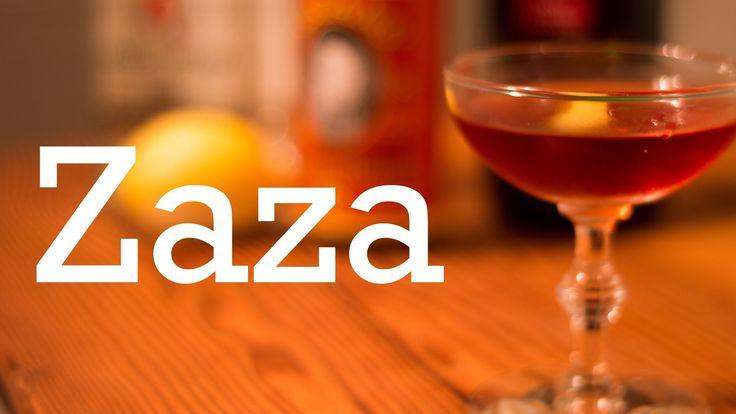 ★★★☆☆ - The Zaza cocktail — Dubonnet & Gin 1oz gin 1.5oz Dubonnet 1 dash orange bitters Lemon peel for garnish