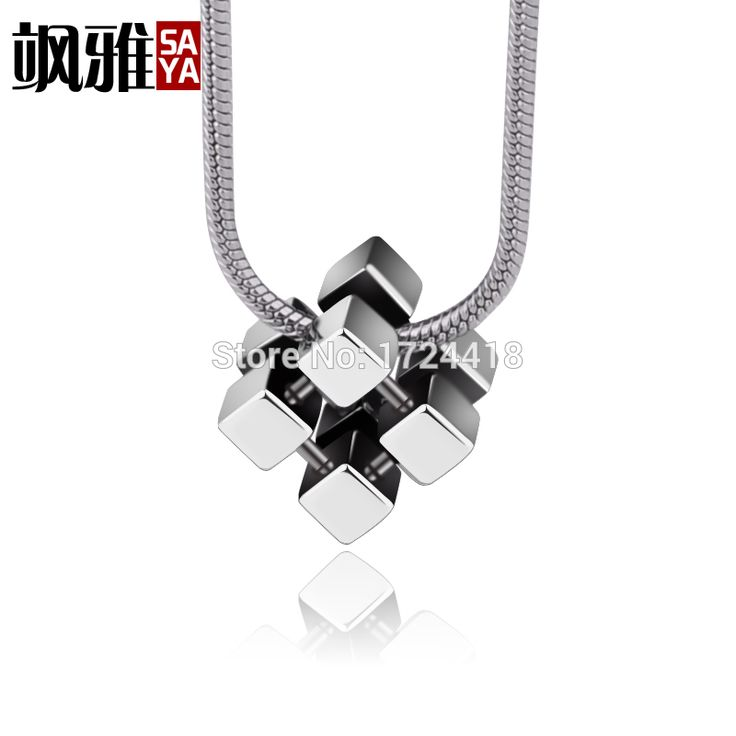 Beautiful Vogue Cube Pendants Tungsten Jewelry For Necklace Accessories Fashion Manual Polishing Necklace Free Shipping