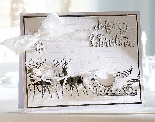 Card made using the Sara Signature Contemporary Christmas collection from Crafter's Companion. #crafterscompanion