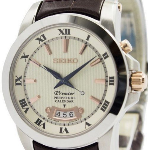 Seiko Men's Premier Perpetual Calendar 100m Watch SNQ150P1 - In Stock, Free Next Day Delivery, Our Price: £229.99, Buy Online Now