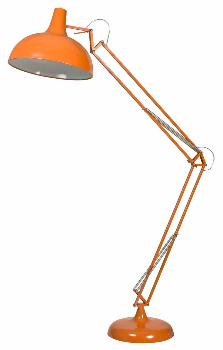 Orange floor lamp - Urban Barn Atlas Floor Lamp Orange Floor Lamps Lighting Products