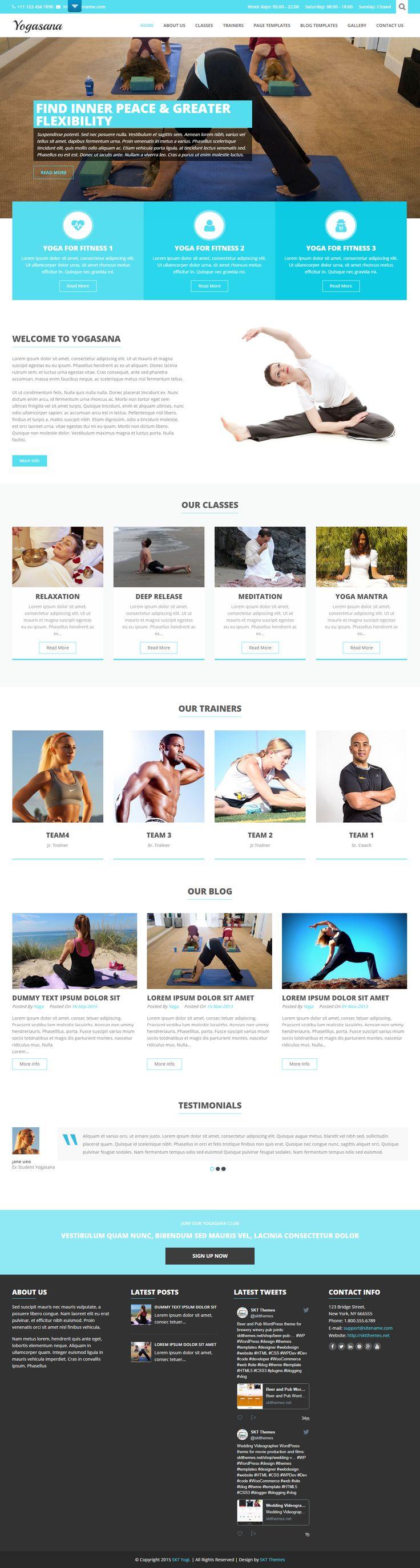 Free Yoga WordPress Theme for Yoga Trainers and Studios