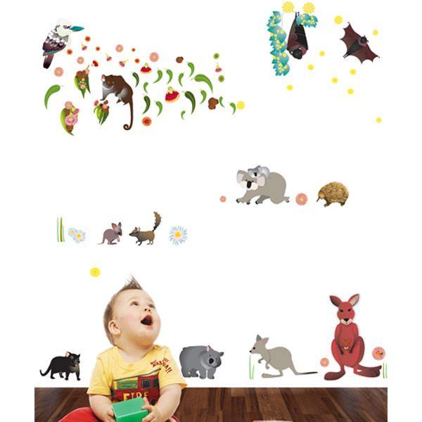Australian Animals Wall Stickers - $79.95 : Bellas Little Ones Australia, ErgoBaby Carrier Nursery Wall Stickers Kids Wall Decals Manduca Baby Carrier