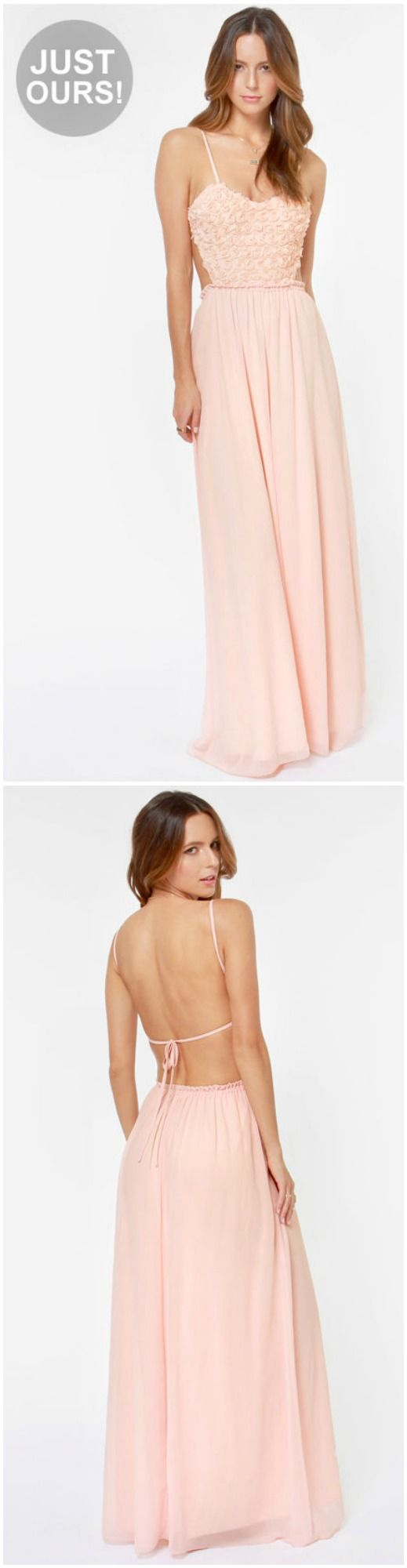 Light Pink Maxi Dress #spring #pastel